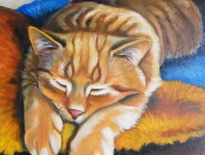 Obrazy olejne kotów i psów Canisu